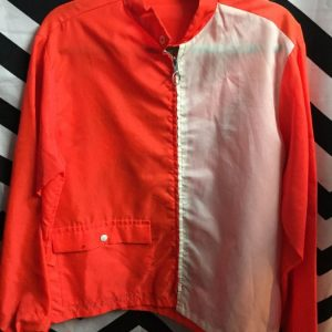 Orange and White 50s Racer jacket 2