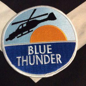 PATCH BLUE THUNDER Flying Chopper Sunset Ocean 1