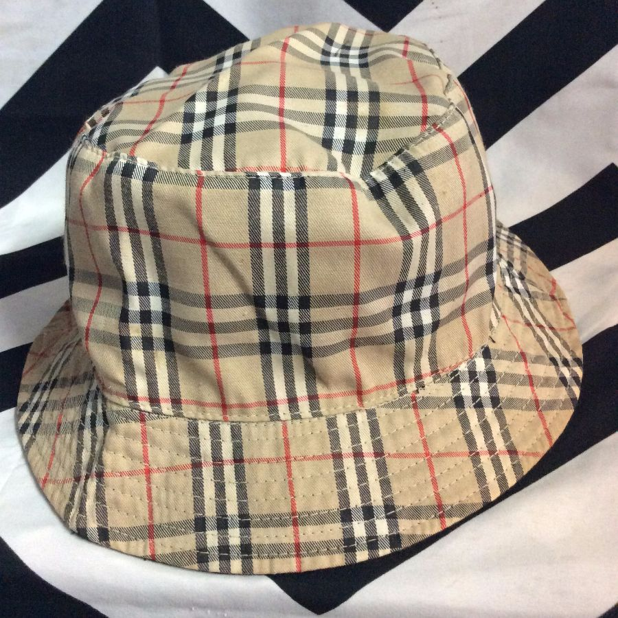PLAID BURBERRY STYLE BUCKET HAT » Boardwalk Vintage 386a7f6a5ea