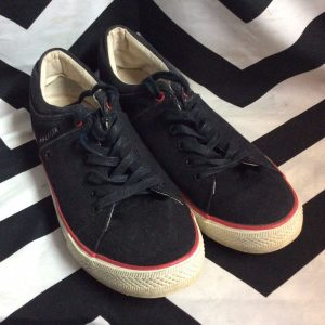 TOMMY HILFIGER Black w/ Red Trim Tennis Shoes 12 1