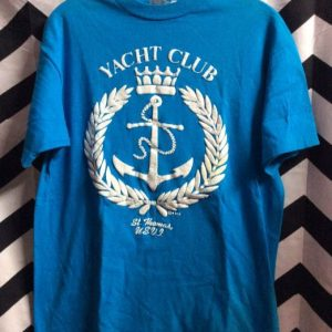 TSHIRT YACHT CLUB ST THOMAS 1980S 2