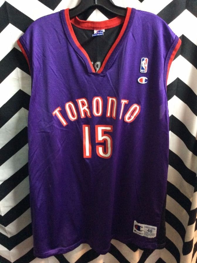 more photos 288a1 b4395 CHAMPION BASKETBALL JERSEY TORONTO RAPTORS #15 VINCE CARTER NBA