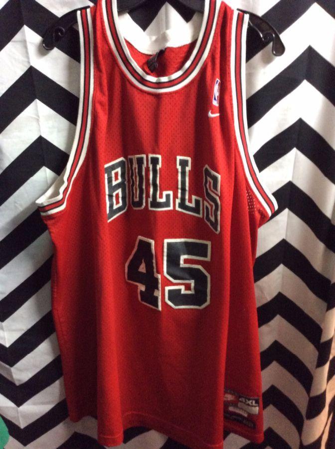 new arrival 77778 d71a6 RARE NIKE BASKETBALL JERSEY CHICAGO BULLS #45 JORDAN NBA