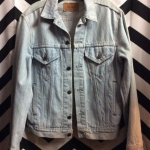 LEVIS Denim Jacket Perfect Bleach Washed Blue 1