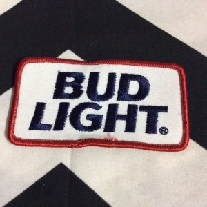 PATCH BUD LIGHT BLUE TEXT RECTANGLE *deadstock 1