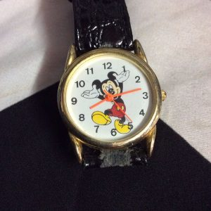 MICKEY MOUSE WATCH PATENT LEATHER BAND 1