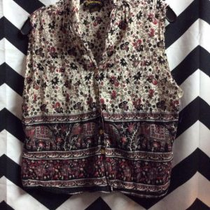 LITTLE INDIA COTTON PRINTED VEST TOP 1