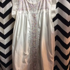DRESS SLEEVELESS EMBROIDERY TOP AND MIDDLE DESIGN 1
