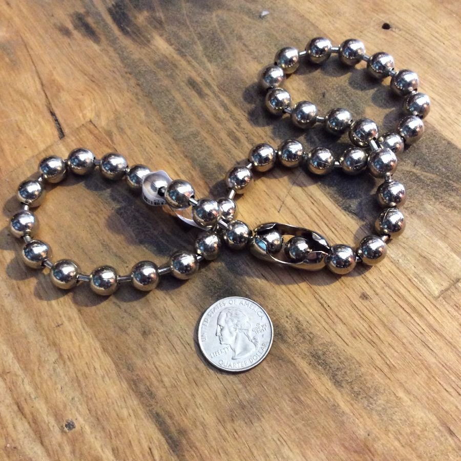 1990s Chunky Ball Chain Chokers Stainless steel 2