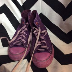 Dyed Converse high top size 7.5 women project red 1