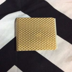 OVERSIZED BRASS MONEY CLIP WEAVE PATTERN 1
