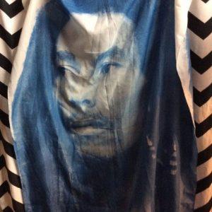 Bob Marley Scarf White Blue 1