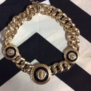 1980S GOLD CHAIN CHOKER NECKLACE VERSACE LION 1