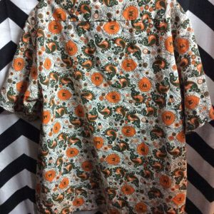 RETRO SS BD FUNKY PRINTED COTTON SHIRT 1