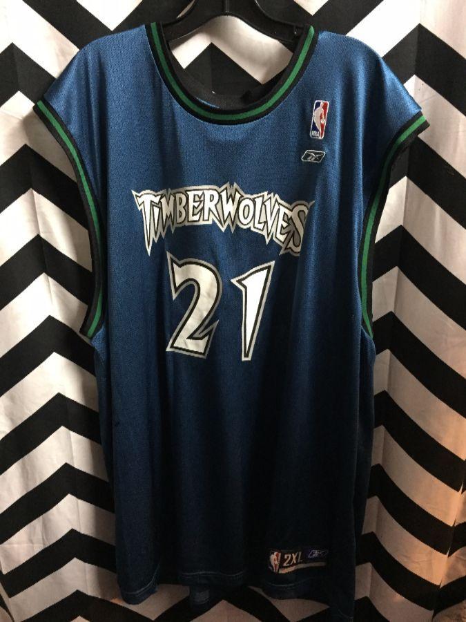 f9b68bc198f REEBOK NBA JERSEY MINNESOTA TIMBERWOLVES  21 KEVIN GARNETT ...