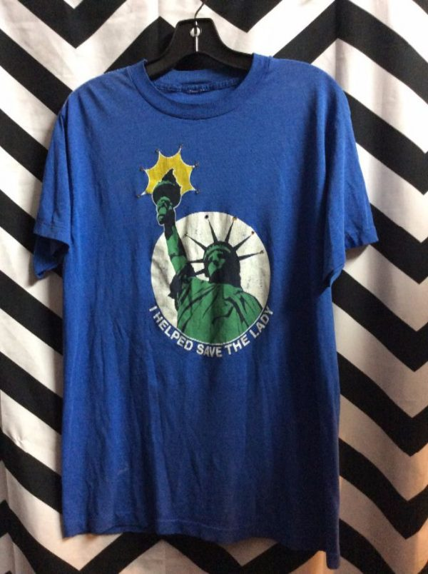 TSHIRT I HELPED SAVE THE LADY STATUE OF LIBERTY 1