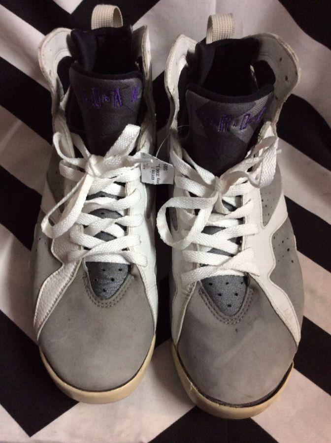 best sneakers 9bbe2 5cc97 Air Jordan 7 (VII) Retro - White   Varsity Purple - Flint Grey 2006
