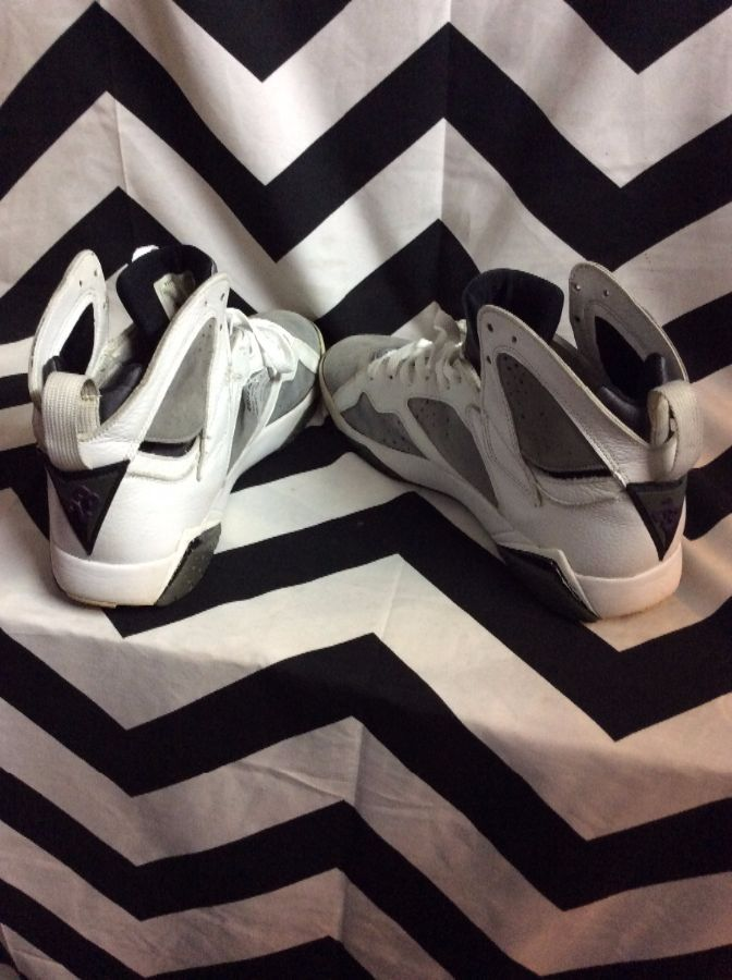 e52b8dde062b ... discount air jordan 7 vii retro white varsity purple flint grey 2006  4b040 b5b15