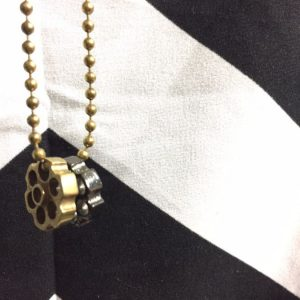 DOUBLE BARREL NECKLACE BALL CHAIN 1