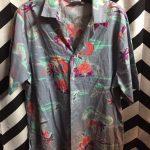 80s Neon Palm Tree Pattern HAWAIIAN Shirt 1