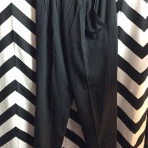 HIGH WAIST PLEATED TROUSERS 2 SIDE BUTTONS 1