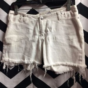 LOW WAIST DENIM CUTOFF SHORTS 1