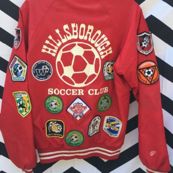 RETRO BASEBALL JACKET FULLY PATCHED SOCCER 2