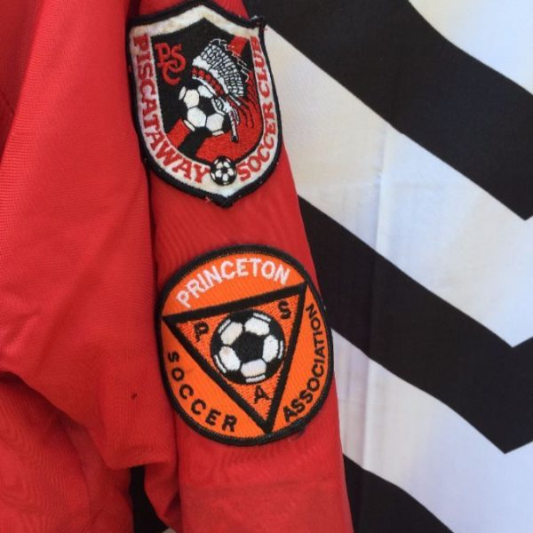 RETRO BASEBALL JACKET FULLY PATCHED SOCCER 5
