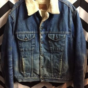 Thick Sherpa Lined Denim Jacket 1