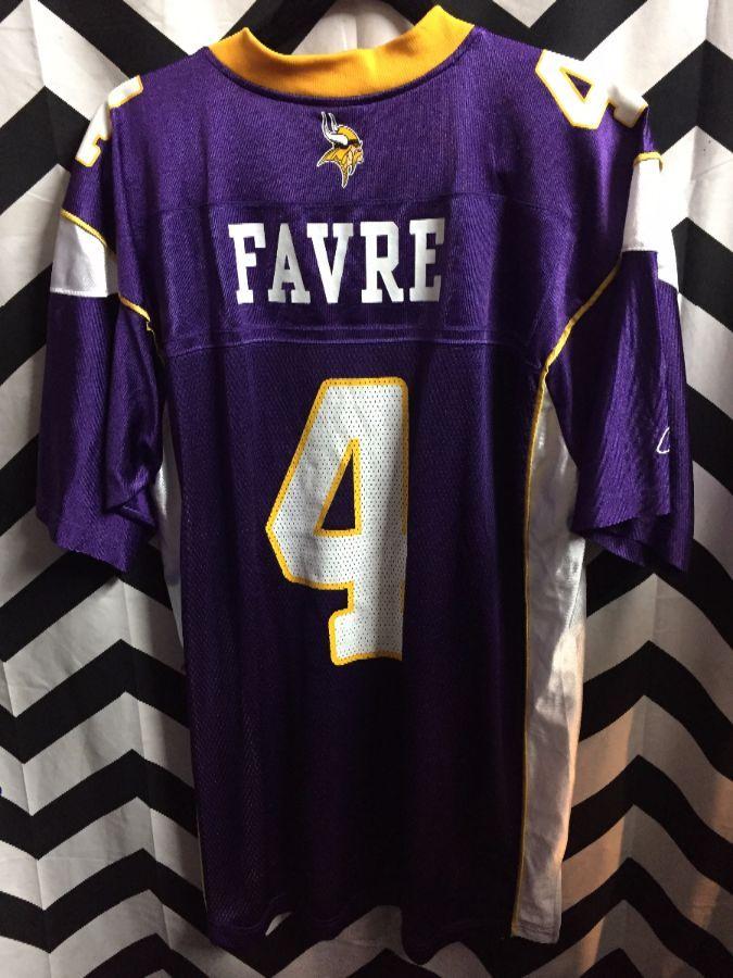 new product bd89b b2fe6 NFL MINNESOTA VIKINGS FOOTBALL JERSEY #4 FAVRE