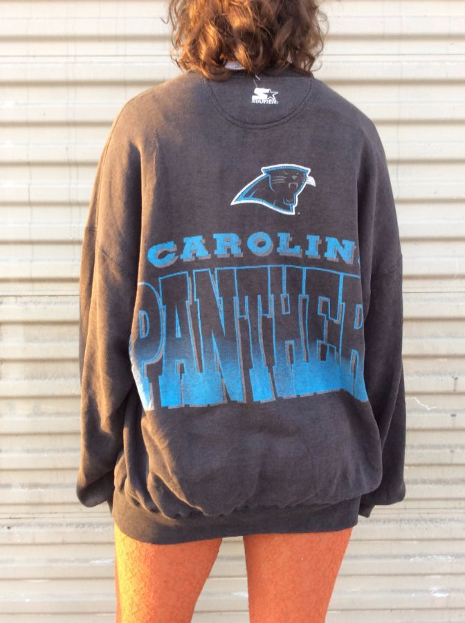 new style df8a2 e1c20 NFL CAROLINA PANTHERS SUPER SOFT FADED PULLOVER SWEATSHIRT