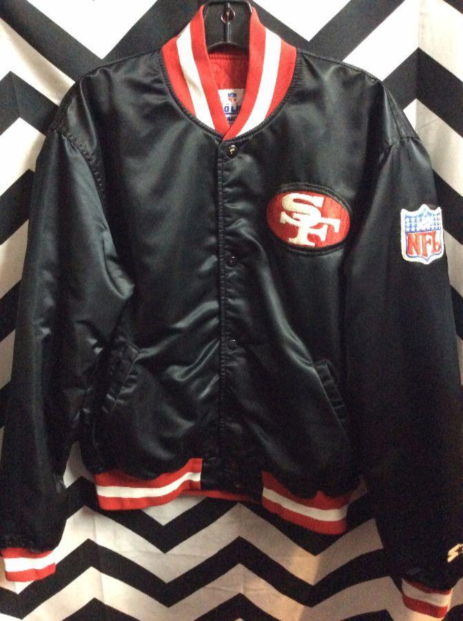 timeless design 294f9 483ca NFL SAN FRANCISCO 49ERS SATIN BUTTON-UP JACKET
