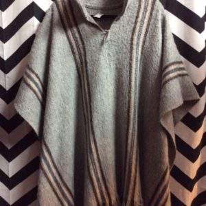 SUPER SOFT PONCHO ALPACA STRIPES 1