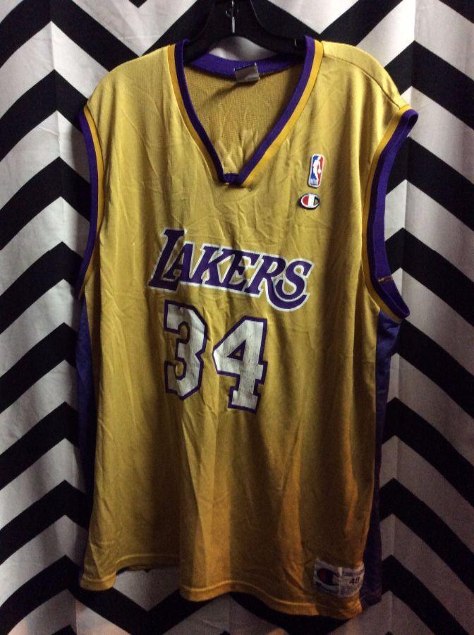 6398ae9f3c2 LOS ANGELES LAKERS O NEAL  34 NBA BASKETBALL JERSEY » Boardwalk Vintage