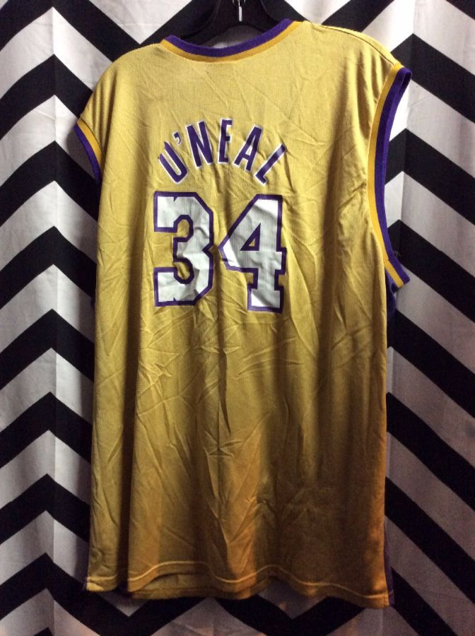 LOS ANGELES LAKERS O NEAL  34 NBA BASKETBALL JERSEY » Boardwalk Vintage 270e3a634