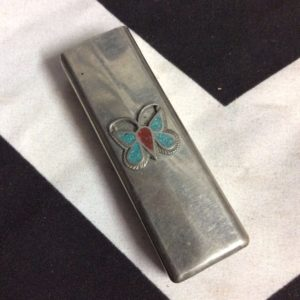 LIGHTER CASE SQUARED BUTTERFLY INLAY PENDANT 1