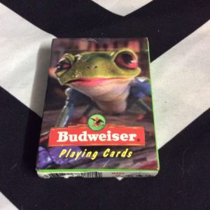 BUDWEISER PLAYING CARDS LIZARD ON FRONT 1