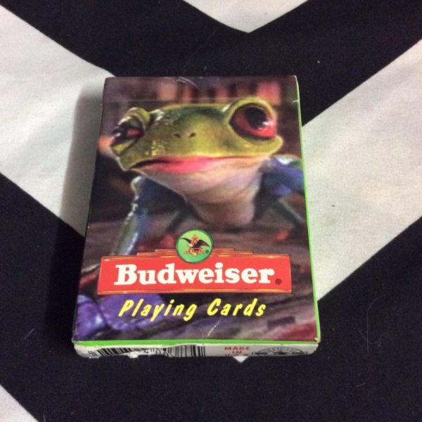 product details: BUDWEISER PLAYING CARDS LIZARD ON FRONT photo