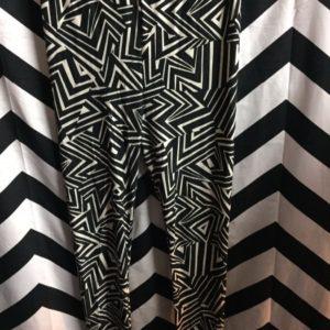 Leggings triangle geometric print super thin and soft 1