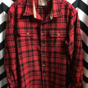 LS BD HEAVY PLAID SHIRT CORDUROY INSIDE TRIM 1
