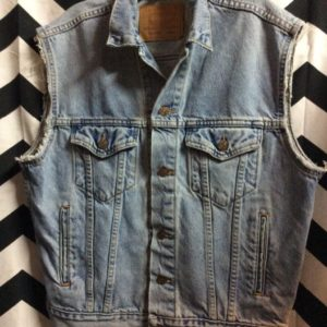 LEVIS CUTOFF VEST RETRO WASHED 1