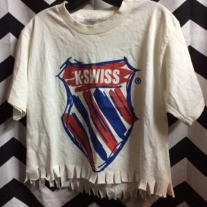 SS CROPPED K SWISS TSHIRT BOXY CUT as-is 1