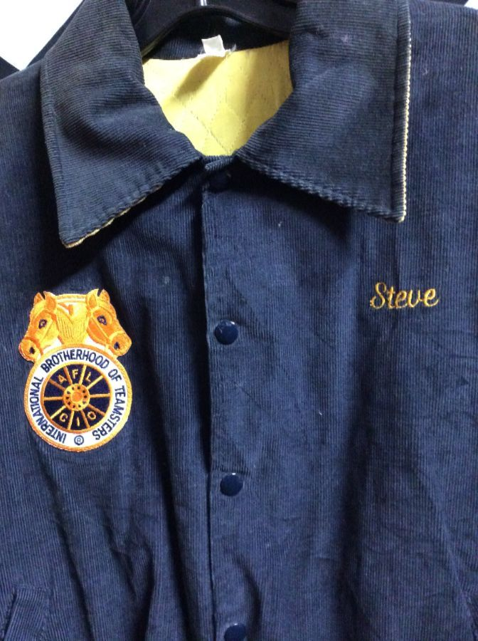 TEAMSTERS LOCAL 463 CORDUROY JACKET W/FRONT PATCH