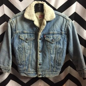 SMALL LEVIS SHERPA LINED DENIM JACKET 1
