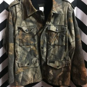 LS Zip up Forest Camo Jacket w/ Fleece lining 1