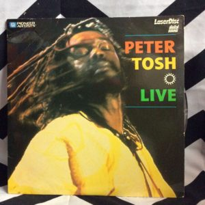 LASER DISC PETER TOSH LIVE LP 1