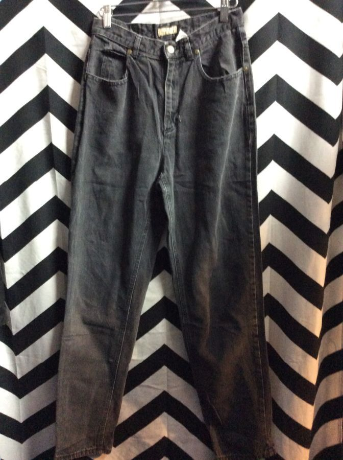 FADED BLACK DENIM JEANS LIZ CLAIBORNE 1