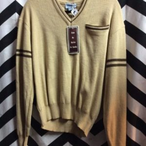 DEADSTOCK PULLOVER SWEATER V-NECK 1