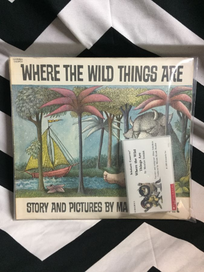 BOOK- Where the Wild Things Are w/ Cassette Audio Tape 1
