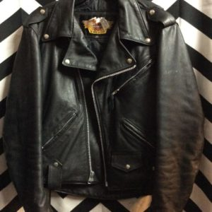 Harley Davidson Leather Motorcycle Jacket as-is 1